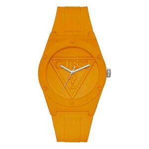 Guess Unisex Watch Men Women Rubber Case/Band W0979L11 Orange