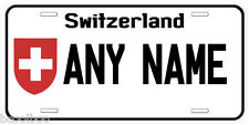Switzerland Personalized Any Name Novelty Auto License Plate
