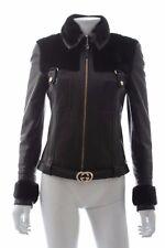 Gucci Leather and Mink Fur Jacket W/Interlocking G Belt / Black / RRP £15,000 +