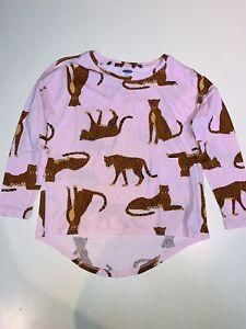 Old Navy Kids Girls Size 6-7 Pink Cheetah Print Long Sleeve Shirt **NEW**