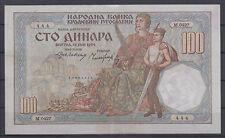 Yugoslavia paper money bill of 100 Dinara 1934 VG