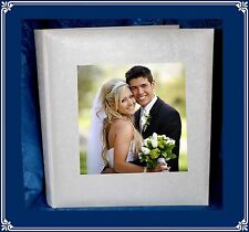 White traditional tissue interleaved album Large personalised Present with Photo