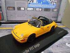 PORSCHE 911 964 Carrera Targa 1991 gelb yellow Sonderpreis Minichamps 1:43