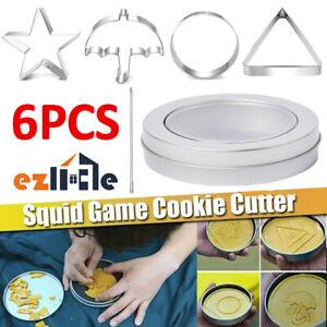 6PCS Biscuits Traditional Sugar Game Korea Squid Dalgona Game Oct14