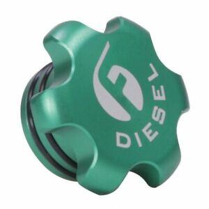 Fleece Performance Green Billet Fuel Cap For 2013-2018 Dodge Ram 6.7L Cummins