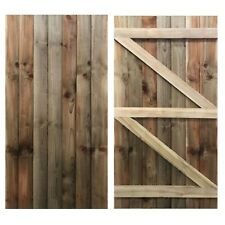 Puerta de jardín portón de madera madera tratada featheredge Lado Puerta 1.8m X 0.9m