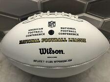 Wilson Official Nfl Autograph White Panel Football Ball The Duke International