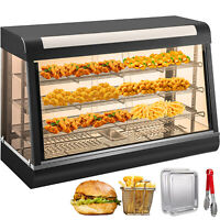 Commercial Food Cake Warmer Pizza Cabinet Tempered Glass Display 1200x480x640mm