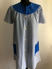 ORIGINAL VINTAGE OVERALL PINNY WORKWEAR STRIPED POCKETS BLUE WHITE RETRO