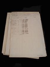 1861 GROUP OF 9 ~ ENLISTMENT DOCUMENTS CLOTHING UNIFORM ETC 82ND PA PHILADELPHIA