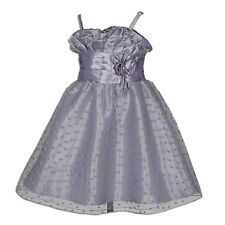 New Grey Pageant Party Flower Girl Dress 7-8 Years