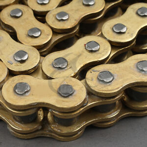 O-Ring Drive Chain Gold 530 Pitch 130 Link Fit For Suzuki GSXR 1000 2001-2010 09