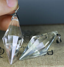 50pcs 12 sided VOGEL Style Natural Clear Quartz Crystal DT Wand POINT Pendants