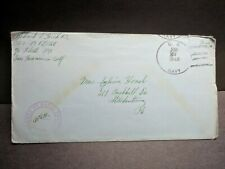 USS LCI(L)-566 Naval Cover 1944 Censored WWII Sailor's Mail w/ letter