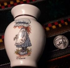 Sarah Kay Valentine miniature vase, vintage approx. 3.5 x 4.5 inches