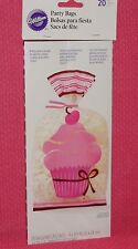 Pink,Cupcake,Ice Cream,Party/Treat/Loot Bags,20ct.Wilton,Girl,Plastic, 912-0860,