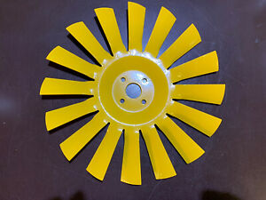 Classic Mini Yellow 16 Blade Metal Radiator Fan Reconditioned Perfect