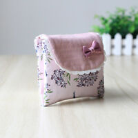 Pretty Flower Pattern Sanitary Towel Napkin Pad Purse Holder Case For Lady Girl