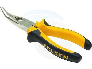 "Tolsen Industrial 6"" 160mm Bent Snip Needle Nose Pliers Wire Cutter"