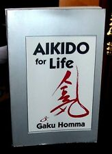 Aikido for Life by Gaku Homma (1990, Paperback) instructing beginners of Aikido
