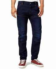 G-Star Raw Mens Bike 3D Low Tapered Button Fly Denim Jeans 34x30 Blue $120