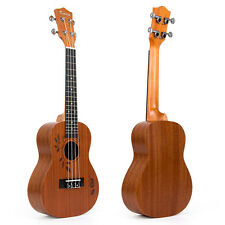 23 Inch Concert Ukulele Uke Acoustic Hawaiian Hawaii Guitar Sapele 18 Fret