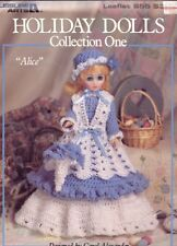 "Holiday Dolls Collection One Colleen, Alice, Valerie 15"" Dresses Crochet Pattern"
