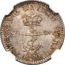 1820 British West Indies 1/16 Dollar NGC MS 63 Anchor Money
