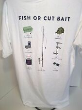 """SOUTHERN-PROPER """"Fish or Cut Bait"""" Tee NWT FREE Shipping (Orig. $32) Large"""