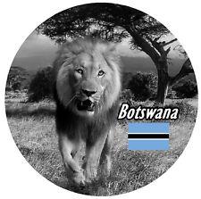 BOTSWANA,SUD AFRICA - rotondo SOUVENIR CALAMITA FRIGO - Bandiere / VISTE /