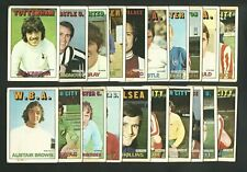 A & BC FOOTBALLERS 2nd Series - 1972 ORANGE BACK FOOTBALL TRADE CARDS x20 (RJ02)