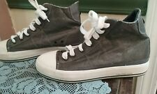 Calvin Klein  Genie Distressed Grey Canvas High Top Sneakers Size 8.5