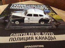 Chrysler de Soto  metal police car 1:43 DeAGOSTINI