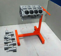Scale Engine Stand with Engine Block and Pistons Kit Crawler Dollhouse Diorama