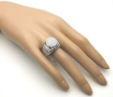 Ladies Women's Genuine Solid 925 Sterling Silver 3 Ct CZ Engagement Promise Ring