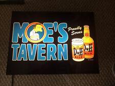 The Simpsons Moe's Tavern Duff Beer Light Box Rare 2004 18X14X4