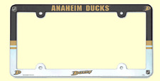 NHL® Mighty Ducks Multicolor Plastic License Plate Holder - SUPPORT YOUR TEAM