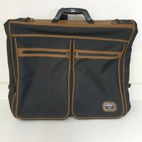 ANTLER Suit Carrier Garment Bag Black With Brown Trim Hardly Used
