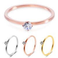 Slim Rings Women lady Crystal Rhinestone Finger Ring Fashion Jewelry Decoration