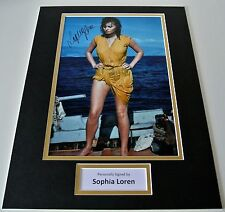 Sophia Loren SIGNED autograph 16x12 photo display Hollywood Film Actress & COA