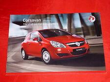 VAUXHALL Corsavan + Corsavan Sportive englischer Prospekt von 2008