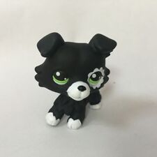 OOAK LPS Black/White Collie dog Hand Painted Figure LITTLEST PET SHOP