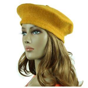 Men Women Winter Wool French Beret Hat Fashion Artist Casual Plain Cap Unisex