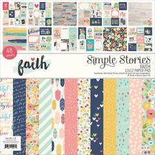"Simple Stories Single-sided Paper Pad 12""x12"" 48/pkg-faith, 24 Designs/2 Each"