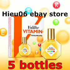 5 x VRohto VITAMIN B6 K Na E Eye Drops 13ml For BLURRY fatigue Eyes Mentholatum