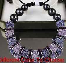 4pcs/lot 10mm free shipping mixed white men clay hot crystal shamballa bracelet