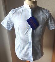 Euroriding Damen  Turnierbluse ,weiß blau karo , halbarm, GR.36, Modell Smart