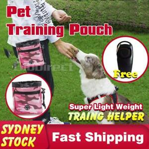 Dog Pet Treat Training Bag Feed Pouch Pocket Food Doggie Puppy 2in1 Whistle AU