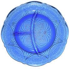 Hazel Atlas Royal Lace Cobalt Blue Grill Plate