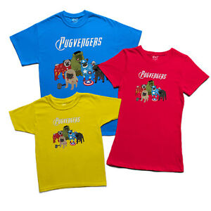 The Pugvengers Mens T Shirt Funny Pug Gift For Dog Lovers Unisex Kids Tee Top